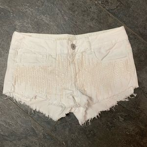 American Eagle sequin stretch shorts size 6